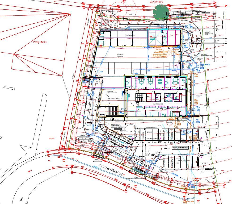 42 Neubau Dienstgebäude Polizeiinspektion einschl. Erschließung und Aussenanlagen